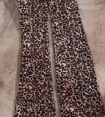 Bershka tigraste trapez hlače, visoki struk - novo