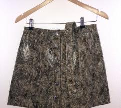 Zara mini suknja od prave koze-kao Novo!