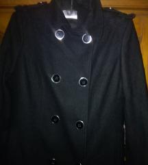Asos pea coat black