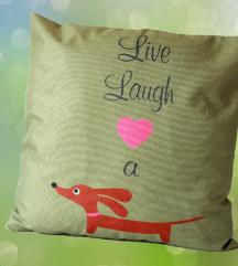 Nova Live Laugh ukrasna jastučnica