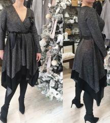 Šljokasta haljina na preklop