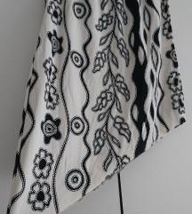 Crno bijela asimetrična suknja