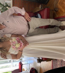 Vjenčanica bijeli saten