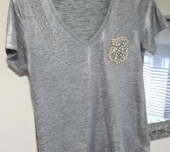 Srebrna metalik majica%