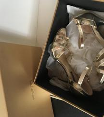 %%Patrizia pepe predivne zlatne kozne sandale:)