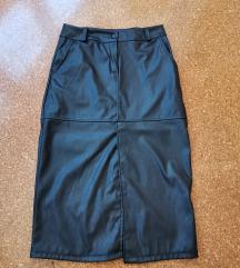 Suknja koznata s prorezom