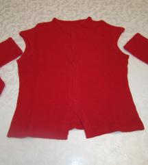 Crveni pulover izrađen od 100 % viskoze
