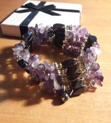 Magnetna ogrlica/narukvica s ametistima