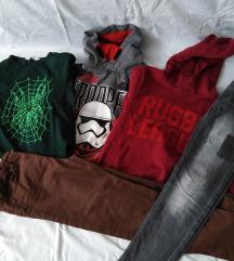 LOT Zara, H&M, C&A hlače, majice 134/140