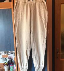 Ljetne bež/krem lagane duge hlače (XS/S)