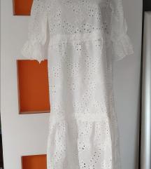 haljina od čipke i pamuka