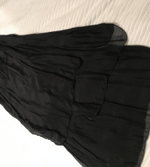 Crna svilena haljina