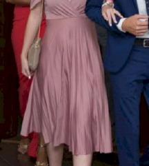 Pink haljina vintage kroj