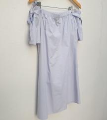Pamučna lila haljina (sa mašnama)
