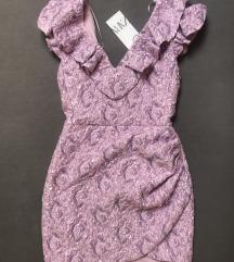Zara lila mini haljina