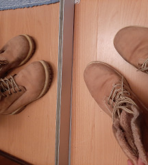 Smeđe čizme sa krznom