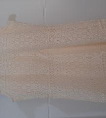 Kratka krem haljina