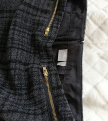 ASOS petite nova kratka karirana siva suknja