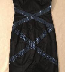 Plava večernja haljina