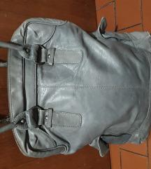 Siva torba prava koža