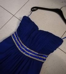 Giovanni kraljevsko plava duga haljina M