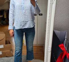 H&M plavo-bijela prugasta košuljica