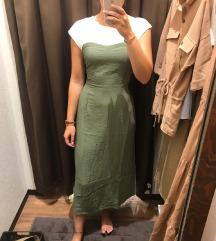 Zeleno bijela haljina