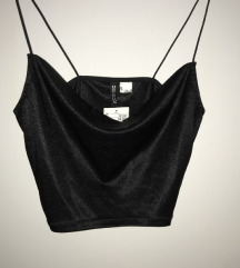 Crni kratki top iz H&M, s etiketom