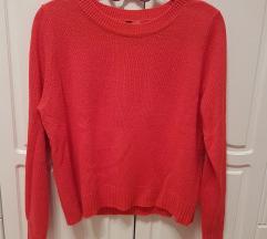 Koraljno crveni H&M džemperić (pošt. uključena)
