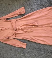 Mango roza midi košulja haljina