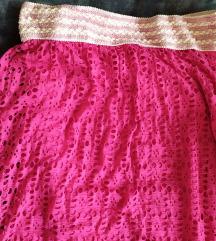 Nova dugačka efektna suknja boje fuksije