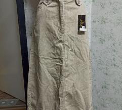 Nova samtena midi suknja