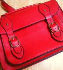 Crvena satchel torba