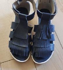 Guliver plave kožne sandale