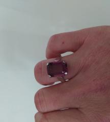 Srebrni prsten s ametistom