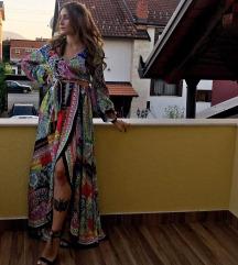 SNIŽENO Svečana šarena haljina