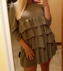 Zara maslinasta mini haljina