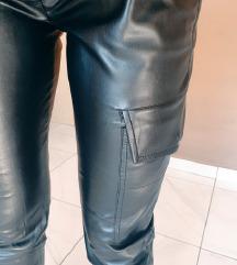Zara cargo kožne hlače