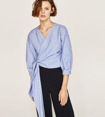 ZARA prugasta wrap košulja - bluza