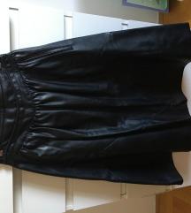 Zara crna kozna suknja s pt