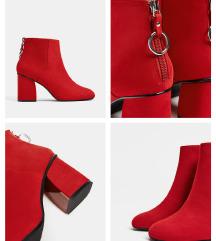 bershka crvene cizme