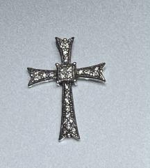 Privjesak križić,srebro