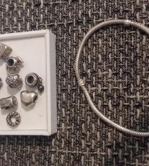 Pandora 20 cm i 11 privjesaka