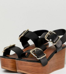 ASOS Design crne kožne sandale - br. 36