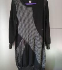 Crna haljina ili tunika s uzorkom