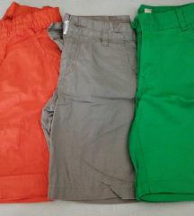 Lot kratke hlače vel. 122