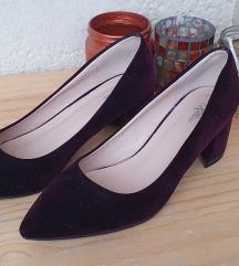 Plišane špic cipele s potpeticom