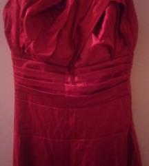 Crvena satenska haljina vel.38