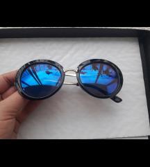 3kom plavo crne, cat eye, prozirne bez dioptrije