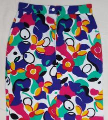 vintage šarena midi suknja
